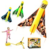 Kidpal Rocket Launcher Toy for Kids 3 4 5 6 7 8 Years Boy & Girl, Rocket Blaster Outdoor Activity Toy, Rocket Launch Set for
