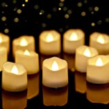 Homemory Battery Operated Light, Flameless LED Tea Light, Timer Tealight, Electric Fake Candle, Small Candle Modern 1.57''w X
