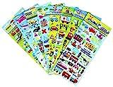 HighMount 乗り物シール 車や飛行機や船やロケットなど幅広い種類で乗り物大集合 レジンの封印に 子供や学生にごほうびシール 8枚セット