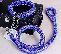 ペットトラクションロープ、1.2メートル ナイロン大犬のリーシュペット牽引ロープの襟セット大きな犬のためのCollarsリード4サイズ (Size : XL)