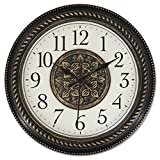 Ashton Sutton WAC858 Quartz Analog Wall Clock, Antique Bronze Plastic Case