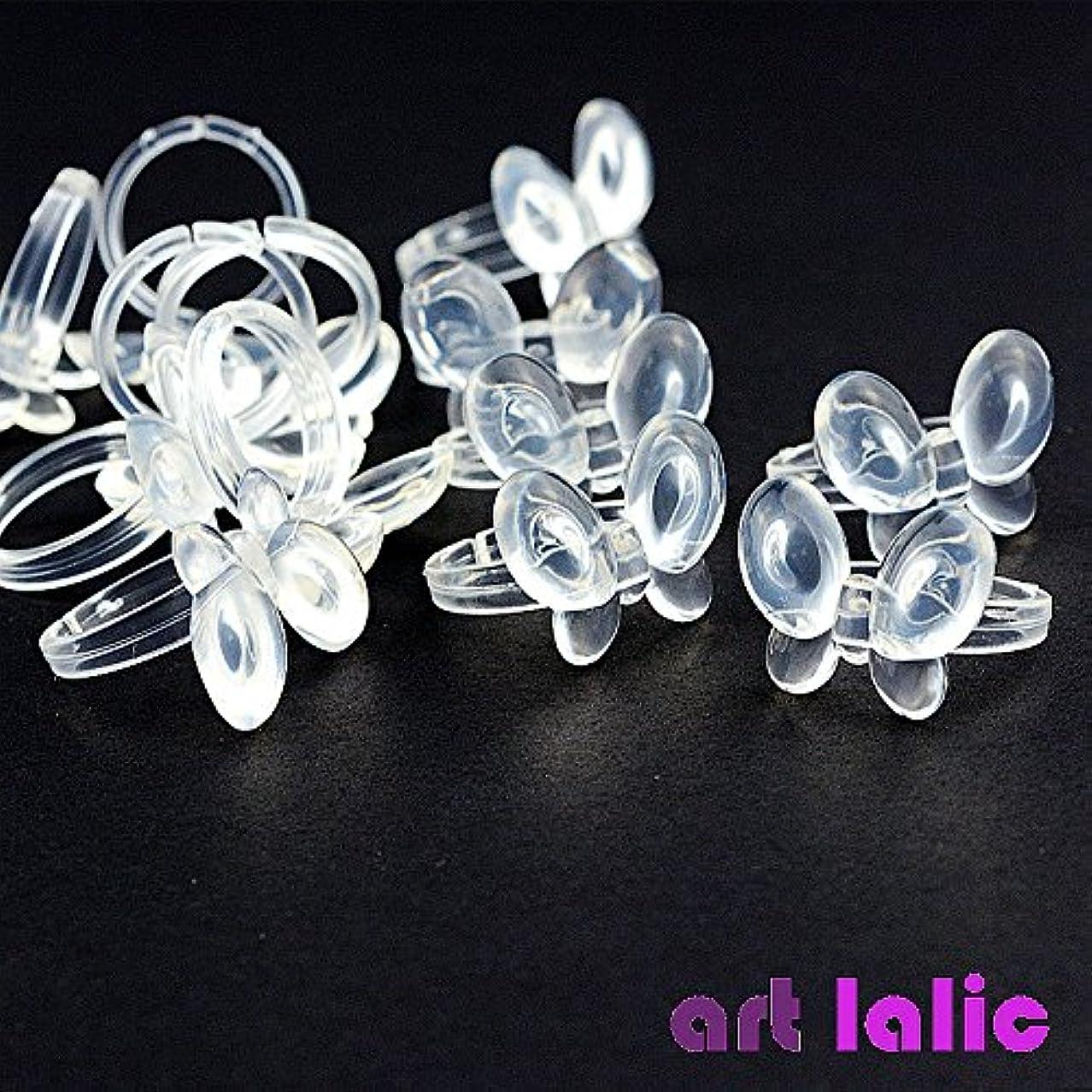 準備する焦げ噛むArtlalic Display Chart Ring Flower Butterfly Manicure False Tip Polish Gel Tool 50 Pcs/Set