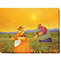 Picking Wildflowers by Lowell Herreroプレミアムギャラリー‐ Gicleeアート( ready-to-hang )