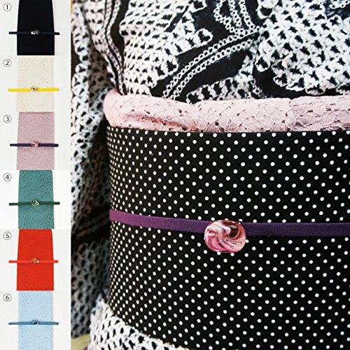 洗える 帯揚げ帯締めセット 3点セット 選べる6色 イエローベージュ系 レースの帯揚 三分紐 硝子の帯留め 夏着物 浴衣に最適です 色が揃っているので便利!ase11011_2