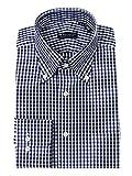 (ザ・スーツカンパニー) ボタンダウンカラードレスシャツ ギンガムチェック 〔EC・CLASSIC SLIM-FIT〕 ネイビー×ホワイト 41