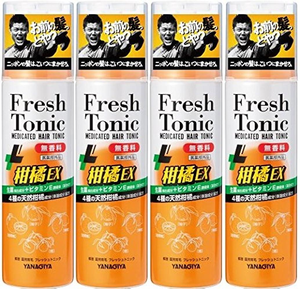 ぼかす地下スキニー【まとめ買い】柳屋 薬用育毛 フレッシュトニック 柑橘EX 無香料 190g×4個