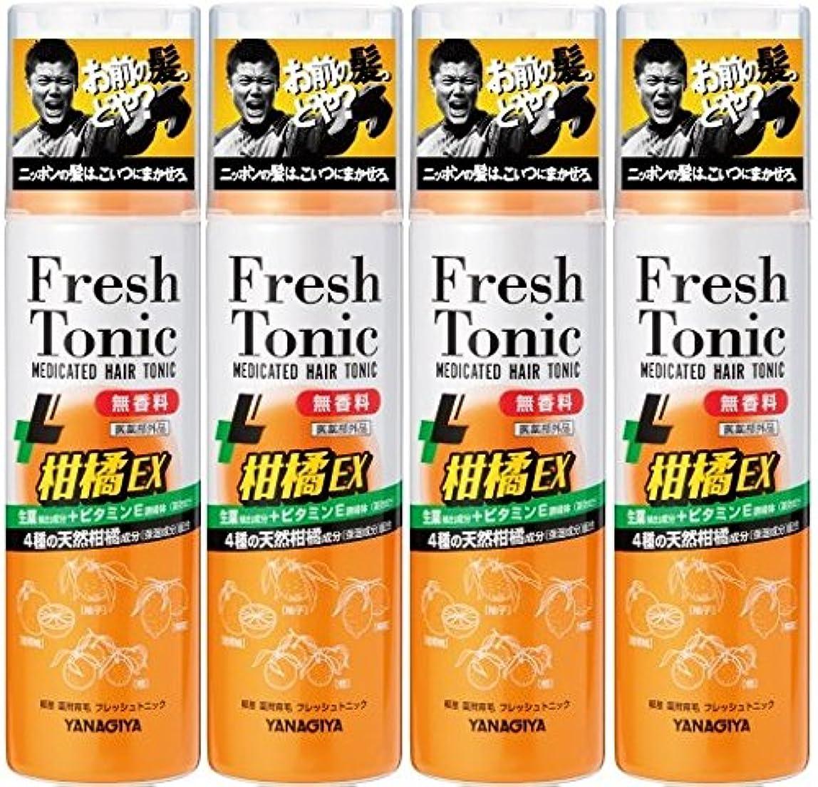 領事館賛辞滑り台【まとめ買い】柳屋 薬用育毛 フレッシュトニック 柑橘EX 無香料 190g×4個