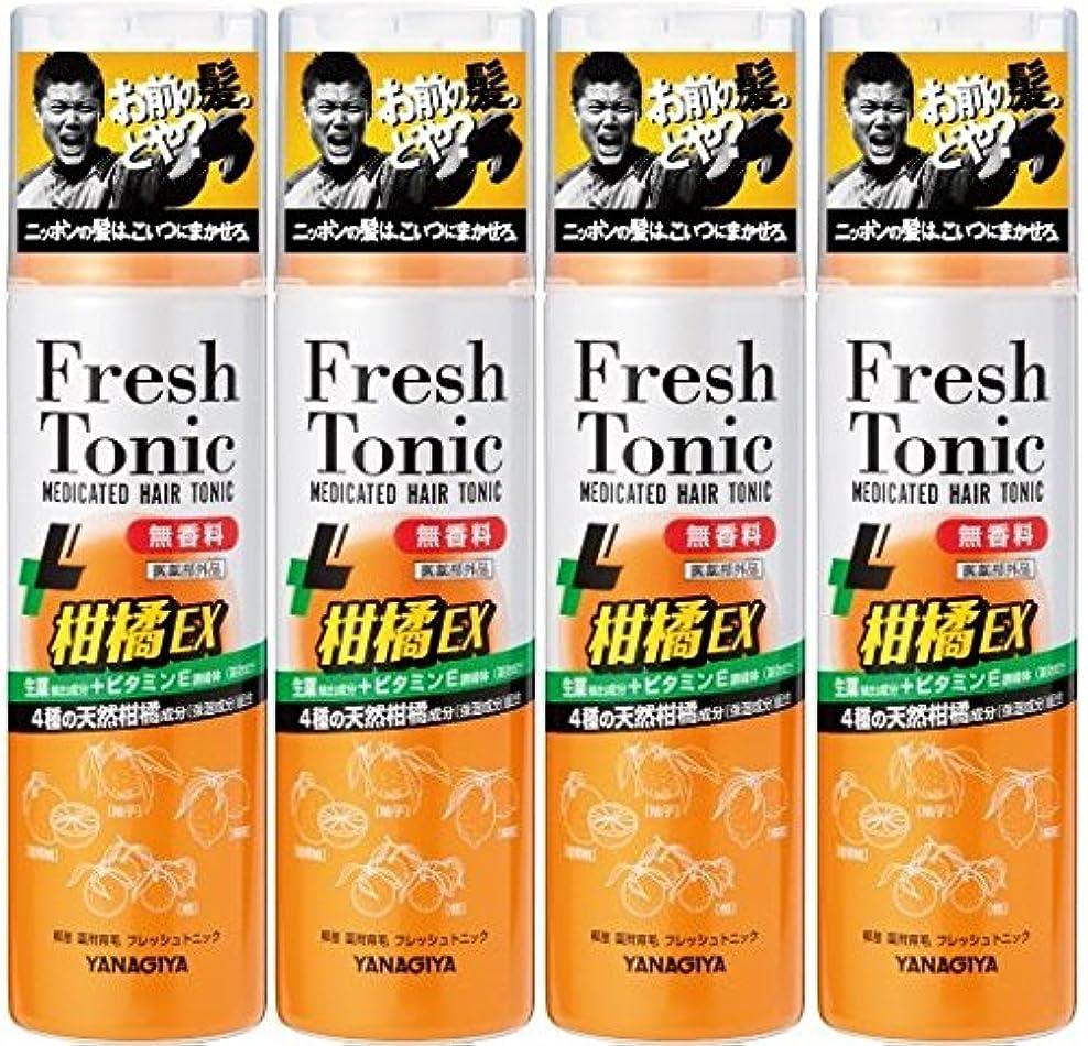 エレガントラップクリア【まとめ買い】柳屋 薬用育毛 フレッシュトニック 柑橘EX 無香料 190g×4個