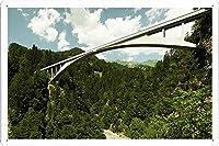 マウンテン橋のティンサイン 金属看板 ポスター / Tin Sign Metal Poster of Mountain Bridge
