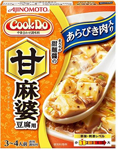 味の素 Cook Do(中華合わせ調味料) あらびき肉入り甘麻婆豆腐用 140g×4個