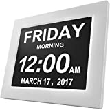 Digital Calendar Alarm Day Clock, HogarTech Extra Large Memory Loss 5 Daily Alarms & 3 Medicine Reminder for Seniors & Impair