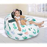 Great Eagle 44X36 Inches Extra Large 100% Cotton Canvas Kids Stuffed Animals Toys Stroage Bean Bag Chair Cover Only, Stuffed