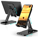 DEAMOS [2021 Upgraded] Cell Phone Stand, Multi-Angle Adjustable Desk Cell Phone Holder Mount Compatible with All Smartphones,