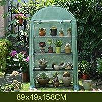 ビニールハウス・温室 ガーデンガーデン庭園温室植物、4層のロールアップドア&強化PEカバー(温室) (Color : B)