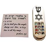 Talisman4U Protection CAR MEZUZAH with Travelers Prayer Scroll Jewish Star of David & Hoshen Mezuza from Israel Jerusalem Art