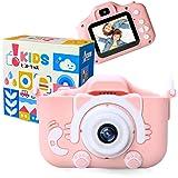 [Amazon限定ブランド] ピントキッズ ネコトイカメラ キッズカメラ 安全ストラップ付 (いちごミルク)