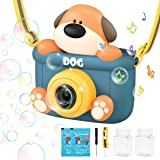 REMOKING Kids Camera Bubble Machine,Dog Bubble Blower with 4 Bubble Solutions,Bath Toys for Baby,Summer Toys for Outdoor and