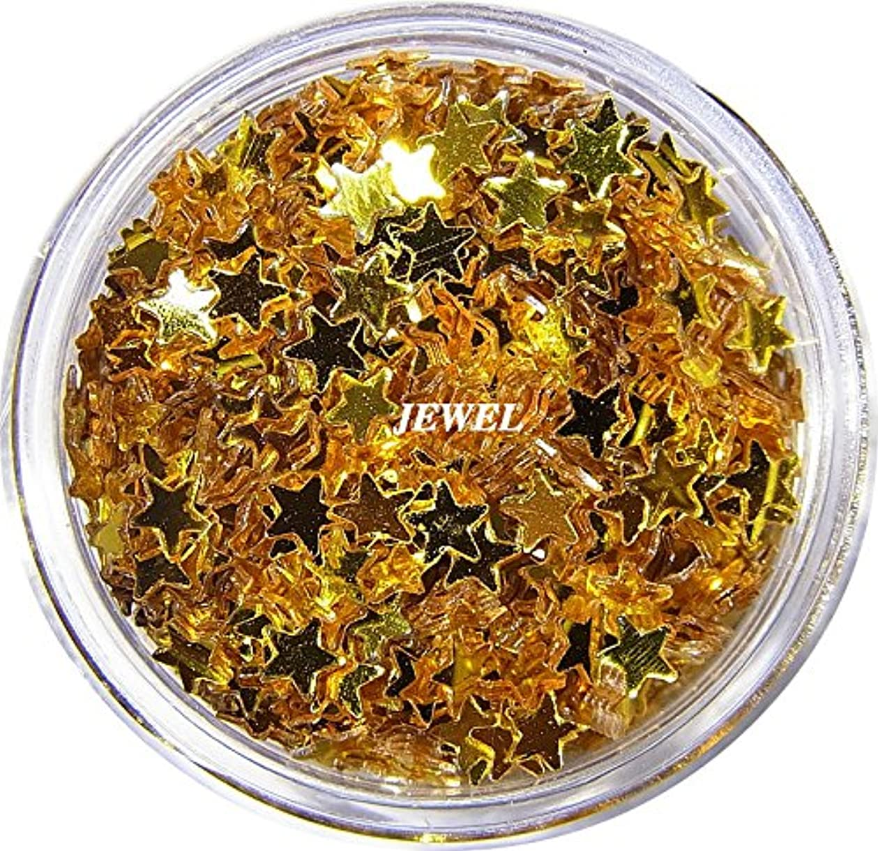 のホストカウボーイひばり【jewel】 星ホログラム 2.5mm スター たっぷり2g入り 12色から選択可能 レジン&ネイル用 (ゴールド)