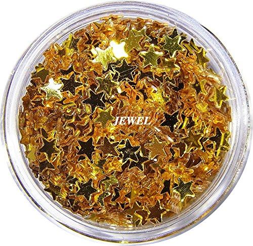 【jewel】 星ホログラム 2.5mm ゴールド スター 2g入り レジン&ネイル