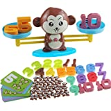 Monkey Balance Cool Math Game STEM Montessori Preschool Learning Counting Toys for 3 4 5 Year olds First Grade Children Kids
