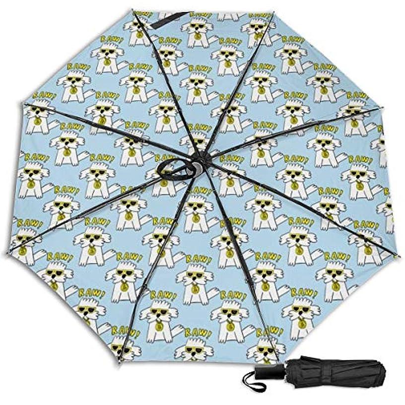 ジュース伝記トチの実の木ヒップホップ犬日傘 折りたたみ日傘 折り畳み日傘 超軽量 遮光率100% UVカット率99.9% UPF50+ 紫外線対策 遮熱効果 晴雨兼用 携帯便利 耐風撥水 手動 男女兼用