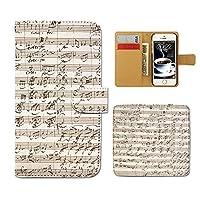 (ティアラ) Tiara AQUOS R SH-03J スマホケース 手帳型 MUSIC 手帳ケース カバー音楽 音符 譜面 ト音記号 楽器 バンド E0257020095004