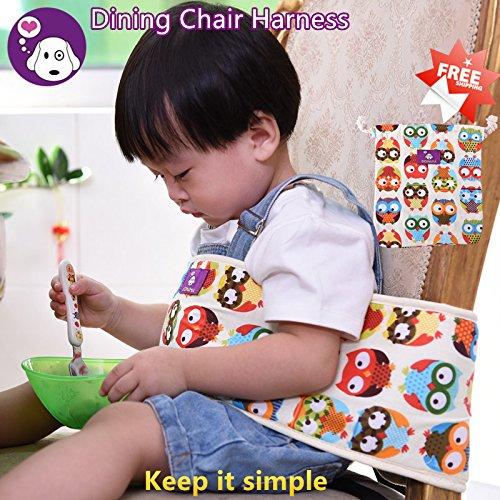 GOMAMA ベビーチェアベルト 椅子用 固定帯 椅子ベルト ベビー用品 持ち運び便利 お子さまの安全を守る しっかりサポートで安心ベビーチェアベルト 6ヶ月から3歳まで  (Style B, OWL)