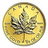 【メイプルリーフ金貨】 メイプル金貨 1/4オンス カナダ王室造幣局発行 7.77gの純金 K24 ゴールド コイン (ランダム・イヤー) 保証書付き