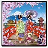 和風飾りトリベット 舞妓さん(桜) Mサイズ 箱入り
