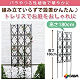 広げるだけのかんたんトレリス♪ フェンスにも 組み立て不要で設置もかんたん! ローズトレリス 幅60cm×高さ180cm (180cm)