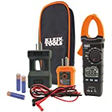 Klein Tools CL110KIT Electrical Tester/Maintenance Kit w/Clamp Meter, Continuity Tester, GFCI Tester, Line Splitter, Case, Le