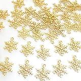 スノーフレーク 雪の結晶20個セット 大10個小10個 ゴールド チャーム アクセサリーパーツ ハンドメイド 手芸材料