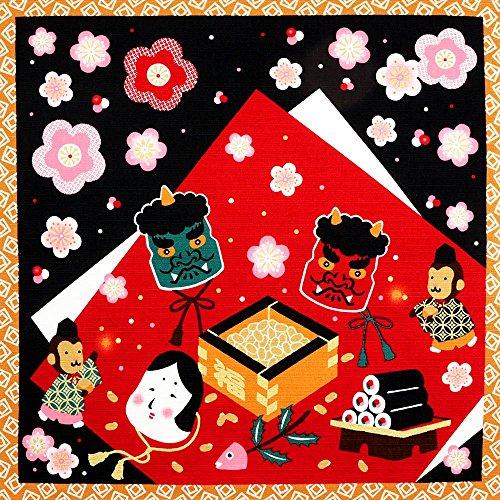 《DM便対応》 (キステ)Kisste 四季彩布 12ヶ月の季節柄小風呂敷 5-4-00081 【No.2】節分