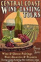 Central Coast、カリフォルニア–Wine Tasting Vintage Sign 16 x 24 Signed Art Print LANT-35495-709