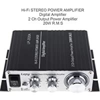 PolarLander LP2020AアンプLP-2020A HiFiデジタルステレオアンプ、過電流保護、赤外線リモコン…