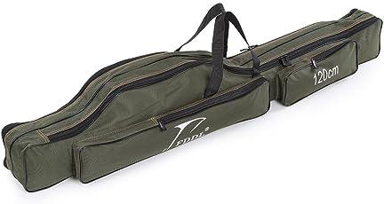 ロッドケース 釣りロッド 釣竿ケース フィッシングバッグ 肩掛け 大容量 釣り竿入れ 折畳