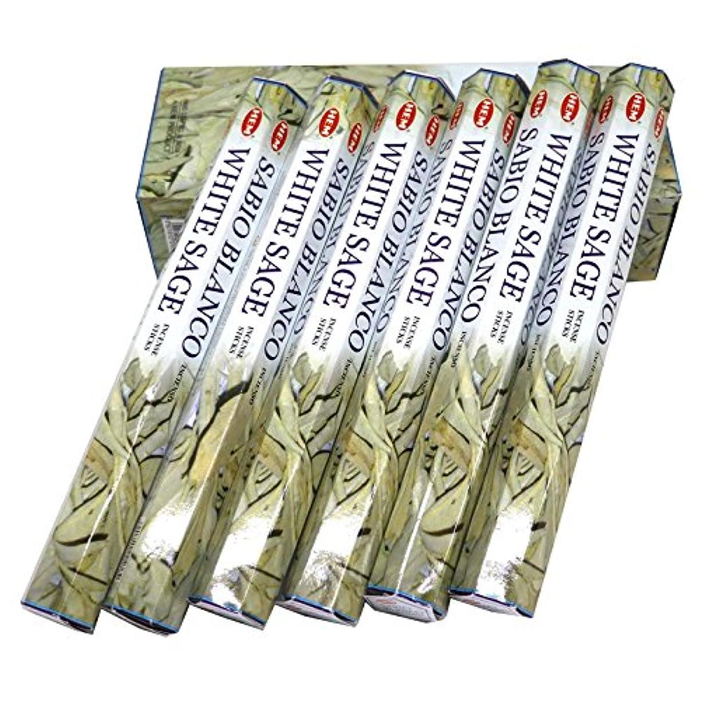 鮮やかなみすぼらしい偏心HEM社 インド製 ステックタイプ香 1箱20本入 (ホワイトセージ)