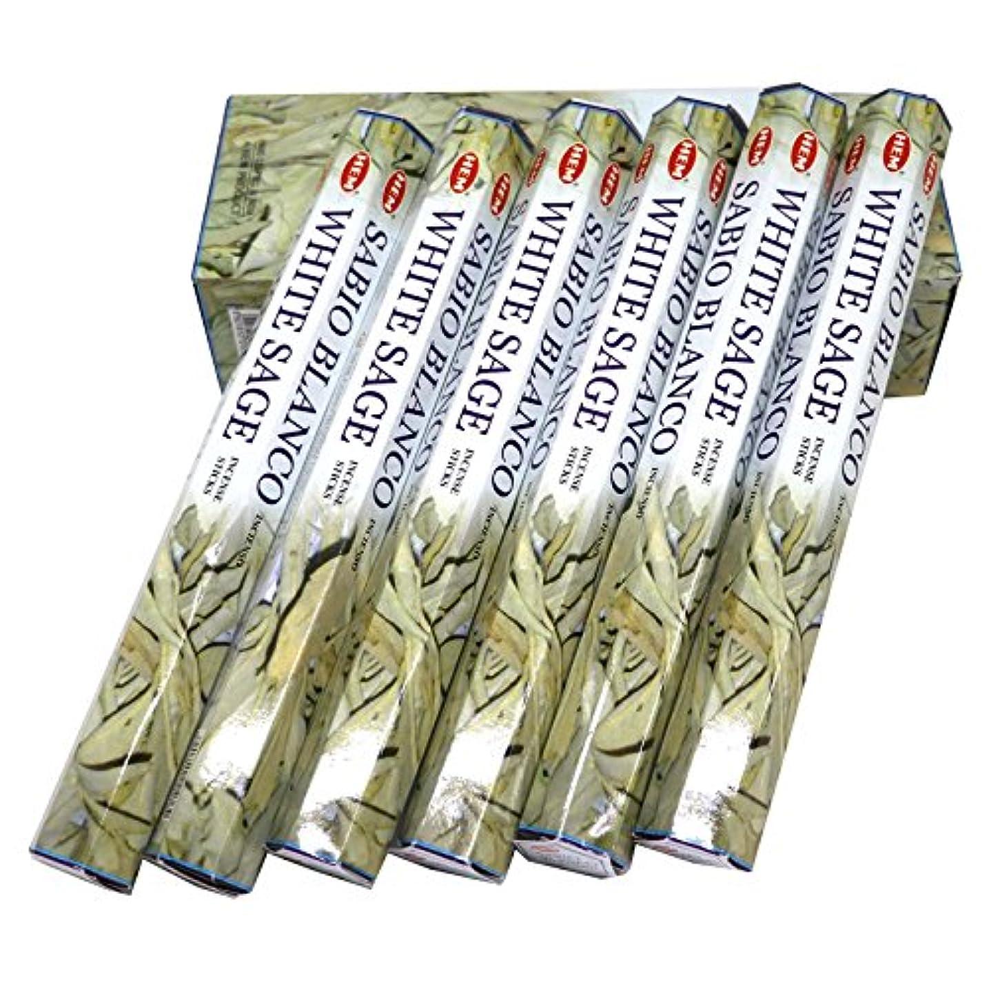 マークダウンホテル不適HEM社 インド製 ステックタイプ香 1箱20本入 (ホワイトセージ)