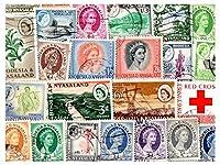 ローデシア&ニヤサランド1954年から1963年、50種類のスタンプコレクターの収集混合パケットスタンプ