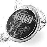 dretec Digital Kitchen Timer, Water Proof Timer, Shower Timer, Magnetic Backing, Silver, Black, Officially Tested in Japan (1