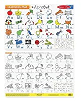 Melissa & Doug Alphabet Write-A-Mat Puzzle (6 Pieces) [並行輸入品]