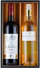 コンクール金賞受賞のフランス赤白ワインギフト 女性向け 750mlx2本