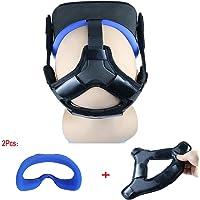 ZBRGX Oculus Quest アイマスク+ ヘッドストラップフォームパッド,快適なヘッドバンド VRカバー 重みを減少 光漏れを防ぐ、防汗 オキュラス クエスト アクセサリー (ブルー 2 in 1)