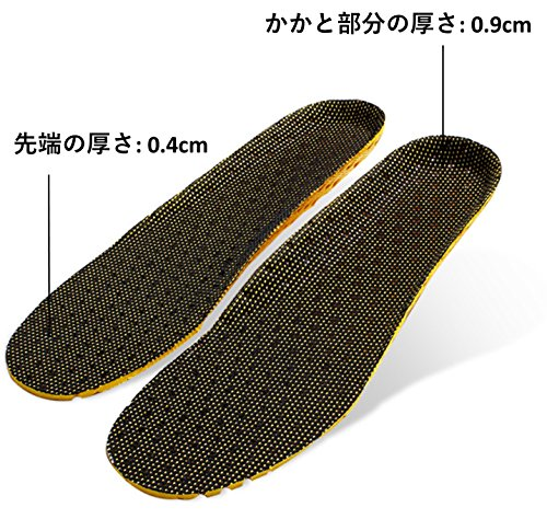 Heal foot 軽量穴空き加工 通気性抜群のクッションインソール 適度な固さ ソフトクッション 低反発 防臭 ランニング ウォーキング スポーツ 立ち仕事 疲労緩和サポート 底の薄い靴などに (M)