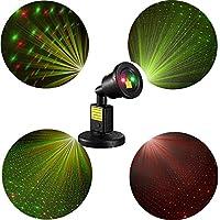 FlyCreat ステージライト レーザーライト,舞台照明 ステージ/ ディスコ/パーティー/KTV/DJ/カラオケ/クラブ/バー/店照明用ライト 自動光線回転 カラーステージ 投影 スポットライトIP65防水 角度調節可 室内・室外対応 ガーデン 庭 芝生設置可 星空 イルミネーションライト 照明マシン ミニポータブルレーザーライト プラネタリウム LEDディスコライト 【ハロウィン クリスマス 投影ライト】ホームパーティー イベント プロジェクターライト 誕生日 結婚式 演出 ダンス お祝い 多彩 雰囲気を盛り上げる (laser light)