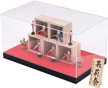 (Smileまーけっと) 雛人形 ひな人形 コンパクト ちりめん ケース飾り ケース入り 箱段お飾りセット 間口9.3cm x 奥行6.4cm x 高さ9.3cm (箱1個)