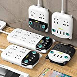 International Power Board Strip 4 Way Socket 3 USB Charging Ports w/Surge Protector 1.8m (4 Outlet 3 USB) (White)