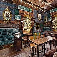 Mbwlkj カスタム壁画レトロデザインコーヒーカフェの背景装飾画の壁紙カスタム高品質壁画-450cmx300cm