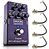 MXR M82 Bass Envelope Filter Effects Pedal Bundle with 4 MXR Right Angle Patch Cables [並行輸入品]
