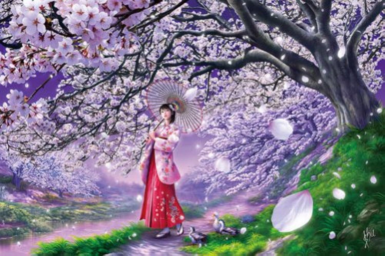 108ピース ジグソーパズル 桜風 (18.2x25.7cm)